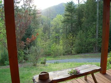 Porch View at the Cabin
