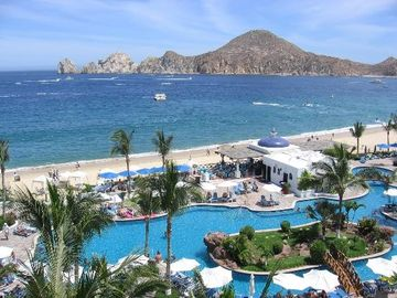 Pueblo Bonito Los Cabos Pool & Cilantros Restaurant, Medano Beach and Lands End
