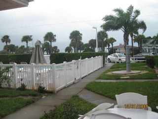 St Pete Beach condo photo - View of Pool & St Pete Beach from Private Patio