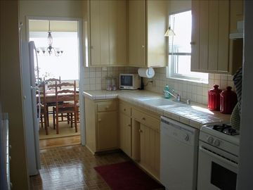 Kitchen with great OCEAN View and small 3rd TV