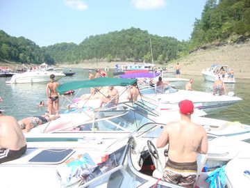 Party cove on the lake