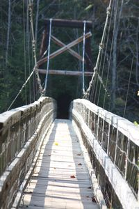 Suspension bridge, a must see. Great hiking in the area.