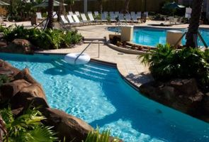 One of the resort pools and lazy river