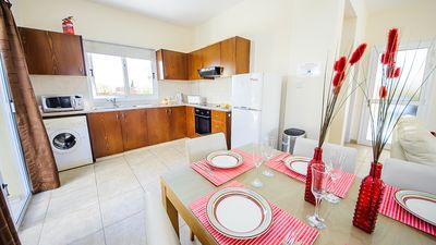 Ayia Napa villa rental - Kitchen with dining area