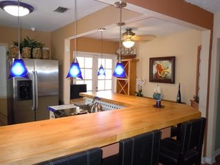 Lake Worth house photo - Large butcher block counter for the whole family to eat together