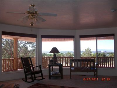 Enjoy Sunrise and Sunset Colors from inside or on the Deck