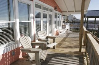 Oak Island house photo - Covered deck