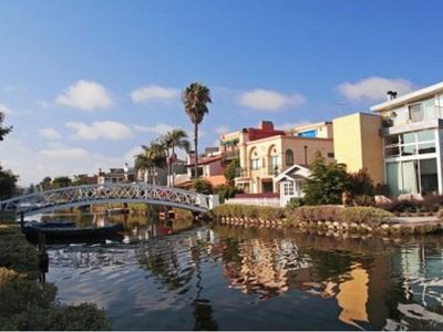 THE NEIGHBORHOOD:  The nearby Venice Canals and bridges make for a lovely sunset stroll -- Venice be