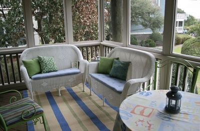 Large shady Screen Porch