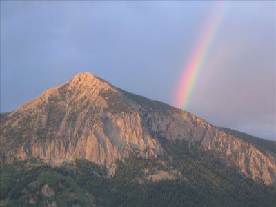 rainbow over Mt. Crested Butte