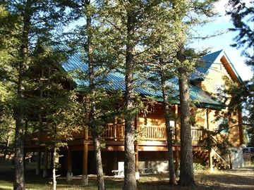 Secluded by pine trees on over 2 acres