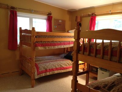 Kids room on main level with two sets of bunk beds