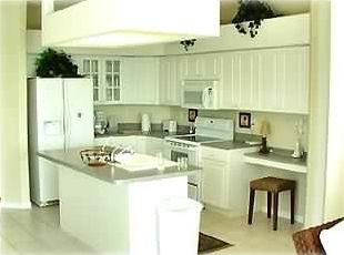 Fully equipped kitchen with microwave, ice maker, good quality cookware