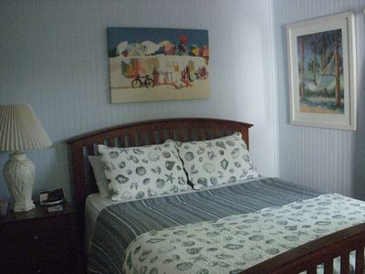 Main Cottage Nautical Bedroom features Queen Bed