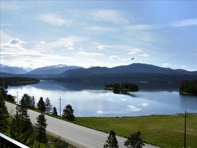Balcony View of Lake Dillon and surrounding Mountains