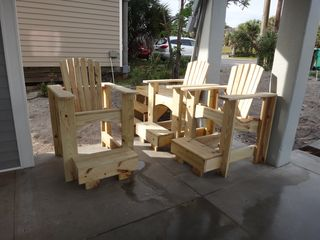 Mexico Beach house photo - These are the captains chairs that go on the deck