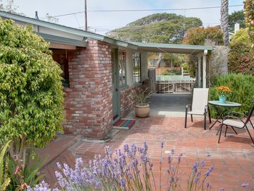 "Pacific Grove house rental - Welcome to ""Tranquility Cottage""! Large front entrance with a sunny patio."