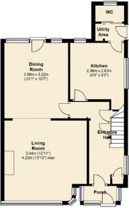 St Ives house rental - Layout Dwonstairs