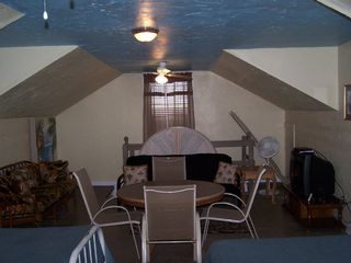 Galveston house photo - Loft..TV /game area...