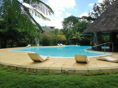 A luxury family residence with 30metre pool and beach cleaning