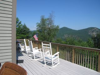 Northwest view - Summer, from deck - Bartlett house vacation rental photo