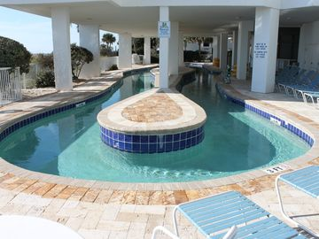 South Tower Lazy River with new pool deck