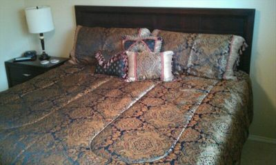 Very comfortable King size bed in the master bedroom with Egyptian Cotton sheets