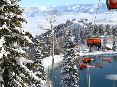 THE CANYONS RESORT-ORANGE BUBBLE CHAIR LIFT