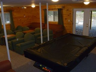 Blakeslee chalet photo - recroom with theater and a 9' pool table