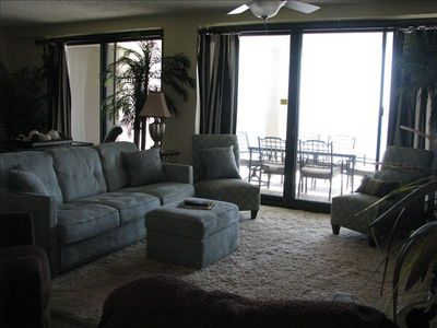main open living area with view of ocean