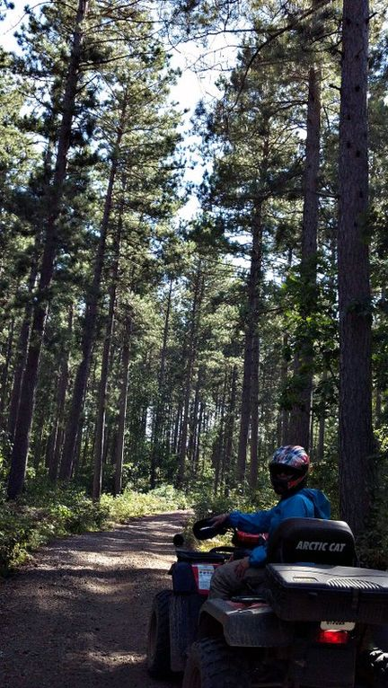 This area of Wisconsin has almost unlimited beautiful ATV trails.
