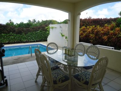 Six Cross Roads villa rental - Informal dining / BBQ area