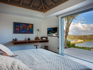 St Barthelemy villa photo - Villa Imagine - Luxury King Size Bedroom with Exquisite Sea Views