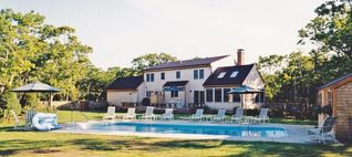 Chilmark house photo - Exterior of house with pool area
