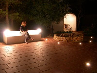 Binibeca villa rental - Terrace at night