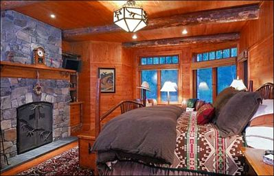 Master Bedroom with a Fireplace