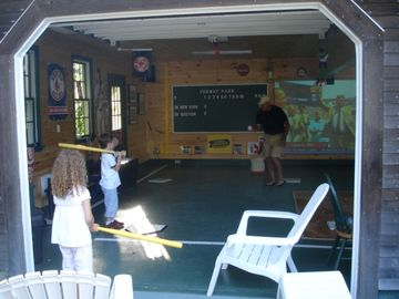 Out 2.5 garage converted to a Fenway Park for kids young and old alike.