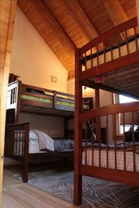 Third Bedroom with 1 bunk bed (full & twin) and 1 bunk bed (2 twins)