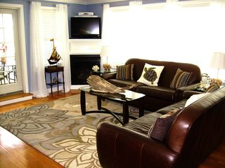 Wells townhome photo - Remote Controlled Gas Fireplace in Living room