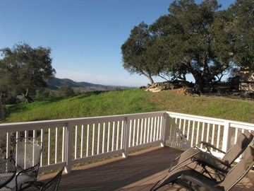 Arroyo Grande chateau / country house rental - Enjoy morning coffee & evening wine on patio with views of ocean and countryside