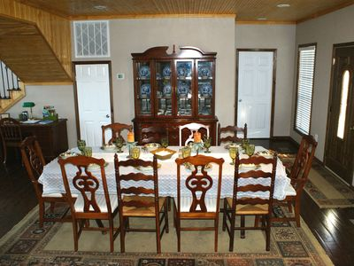 Dining Room features seating seating for 10 and China Cabinet.