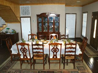 Milam lodge photo - Dining Room features seating seating for 10 and China Cabinet.