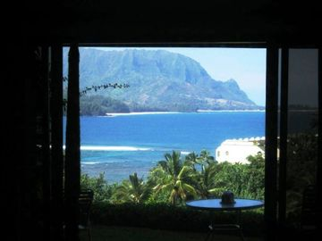 Princeville condo rental - View from shower!
