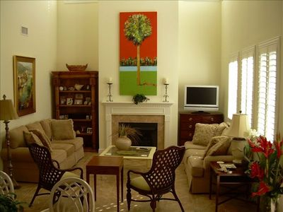 Family Room - Cable TV, Gas Fireplace and Backgammon/Checkers Table