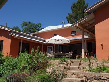 Bisbee house rental - Courtyard with French doors to living room and bedrooms