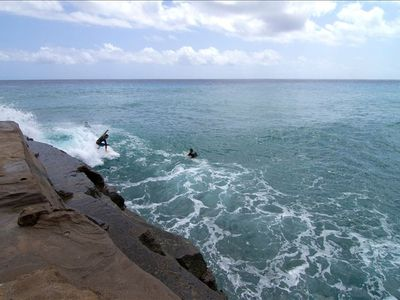 1 block to China Wall, a rugged surfing and diving spot for seasoned athletes