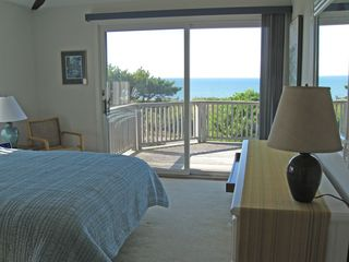 Truro house photo - Master bedroom, second floor, queen bed, bay view