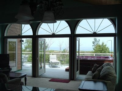 Michigan City house rental - View from the living room of Lake Michigan