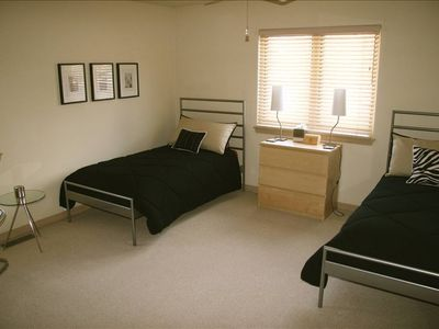 Third Bedroom Fun and very modern. Perfect for the kids!!