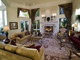 Rancho Santa Fe estate photo - Formal Living Room. Includes yamaha player piano.